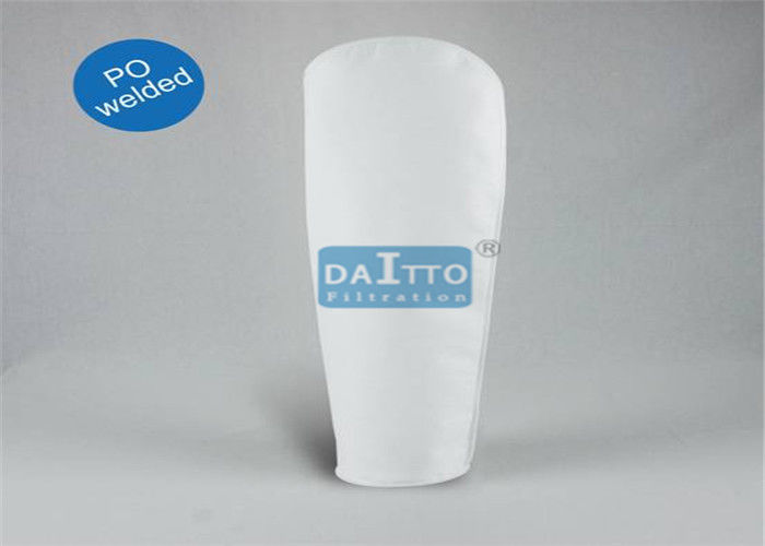 Needle Felt Polyester Filter Bag , 5 Micron Filter Bag High Porosity